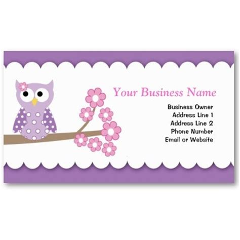 owl business card template 25 best business card templates images on