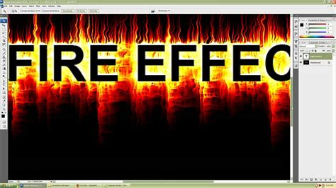 tutorial photoshop cs3 effect photoshop cs3 simple and realistic fire text effect