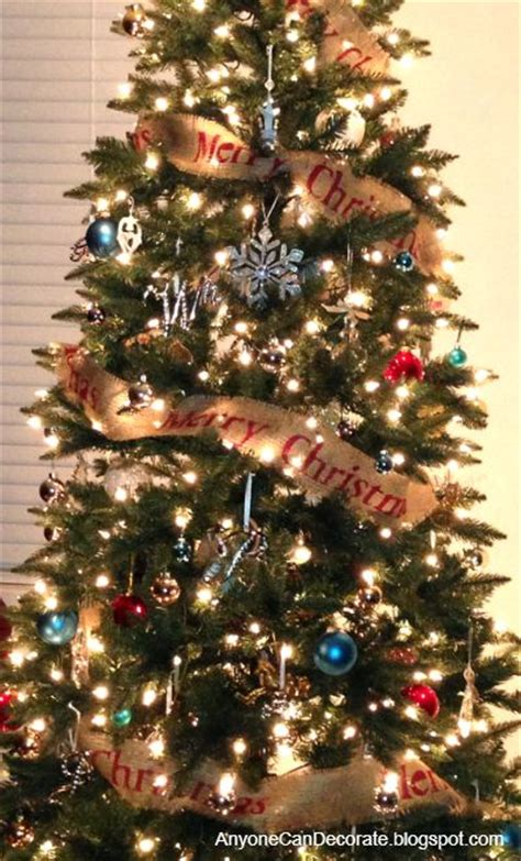 diy burlap christmas tree garland