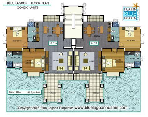 u condo floor plan floor plans blue lagoon hua hin villas and apartments