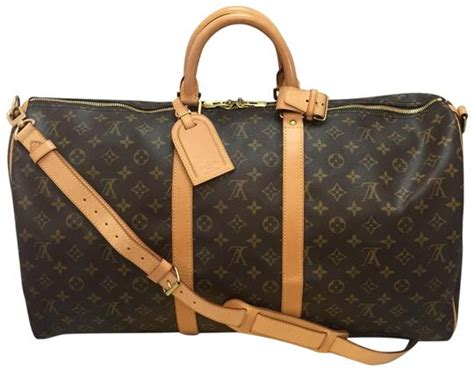 louis vuitton keepall  bandouliere brown monogram canvas