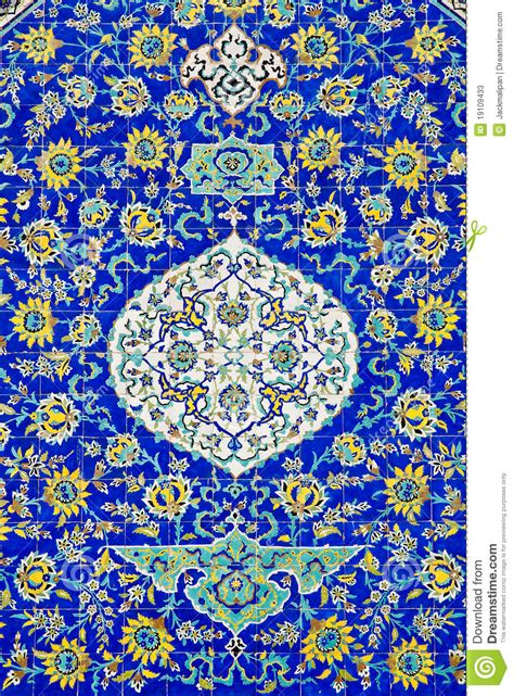 Blue Mosaic Tile tiles in isfahan iran stock photos image 19109433