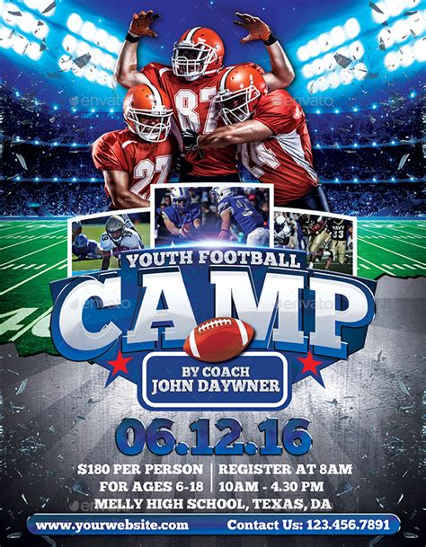 Youth Football Flyer Templates
