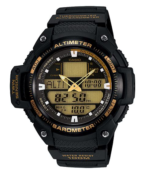 Tali Casio Outgear Sgw 100 jam tangan casio outgear dengan altimeter barometer dan