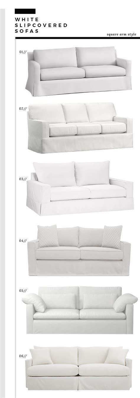 square arm sofa slipcover how we choose white slipcovered sofas room for tuesday