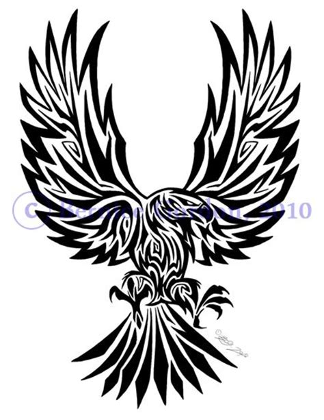 eagle tribal tattoo by tarkheki on deviantart design