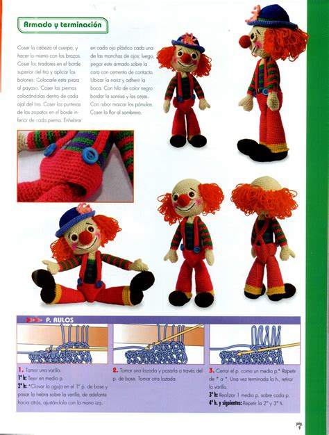 colored clown colored clown amigurumi pattern 6 free cross stitch