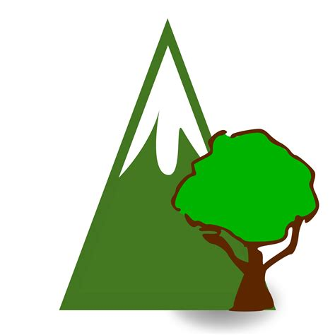 mountain clipart clipart forested mountain