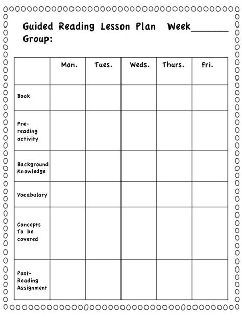 reading planning template take a closer look at guided reading dragons den