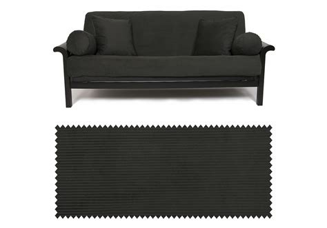 corduroy futon cover corduroy onyx futon cover buy from manufacturer and save
