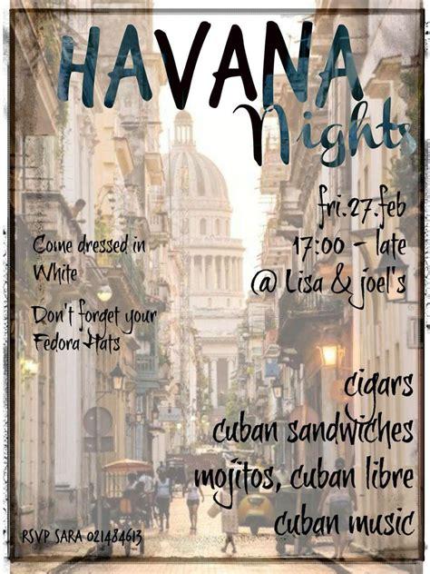 havana nights party invitation havana nights havana party havana nights party havana