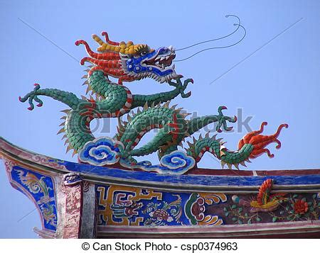 real chinese dragon in a temple in quanzhou, china stock
