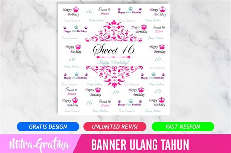 backdrop ultah background banner ulang