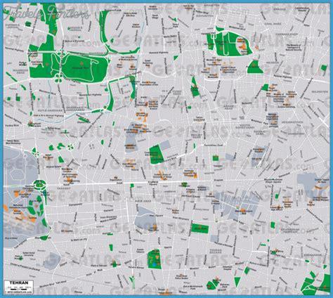 tehran map tehran map travelsfinders