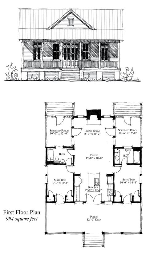 Cool Cabin Plans Cool House Plan Id Chp 49770 Total Living Area 994 Sq Ft 2 Bedrooms 2 Bathrooms Houseplan
