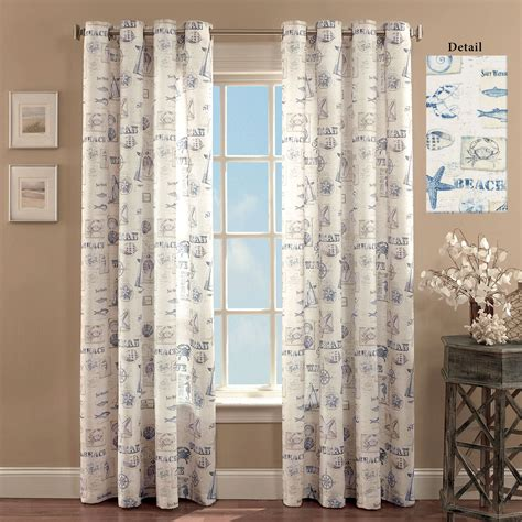 coastal curtains by the seaside coastal grommet curtain panels