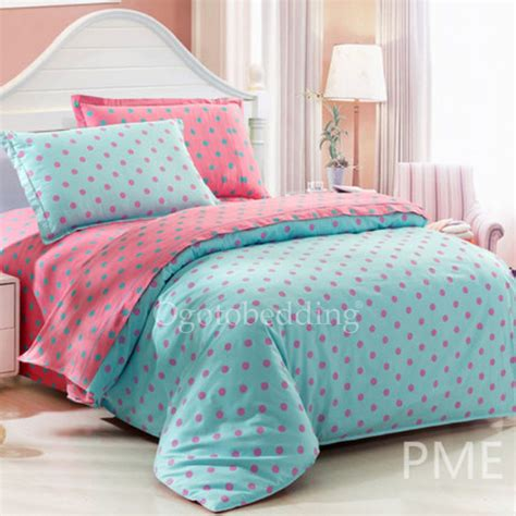 Polka Kid Set overstock vintage teal polka dots bedding sets