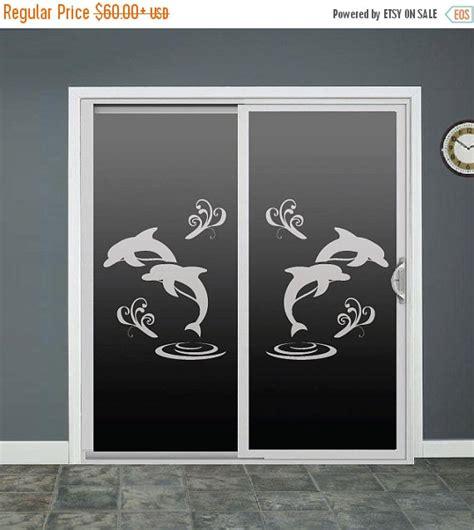 Sliding Glass Door Window Clings Dolphin Glass Door Decals Sliding Door Decal Door By Roomsbyangie