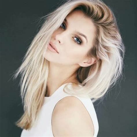 how to add dark roots hair dunkle wurzeln platinblond and wurzeln on pinterest