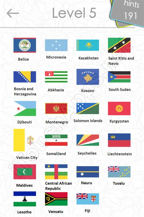 flags of the world quiz level 2 flags quiz answers level 5 part 2