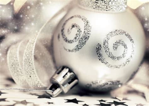 silver christmas decorations christmas photo 22229322