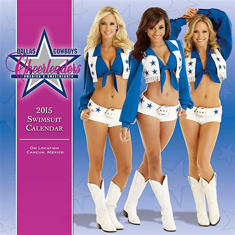 dallas cowboys cheerleaders unveil 2015 swimsuit coed dallas cowboys cheerleaders 2015 15x15 swimsuit wall
