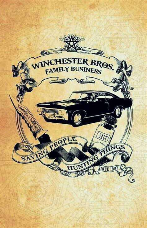 tattoo a family business supernatural winchester print 11 x 17 glossy cardstock
