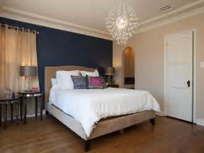 Bedroom Walls accent wall in contemporary neutral bedroom a navy blue accent walls