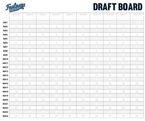 football draft board template football draft board custodian kit