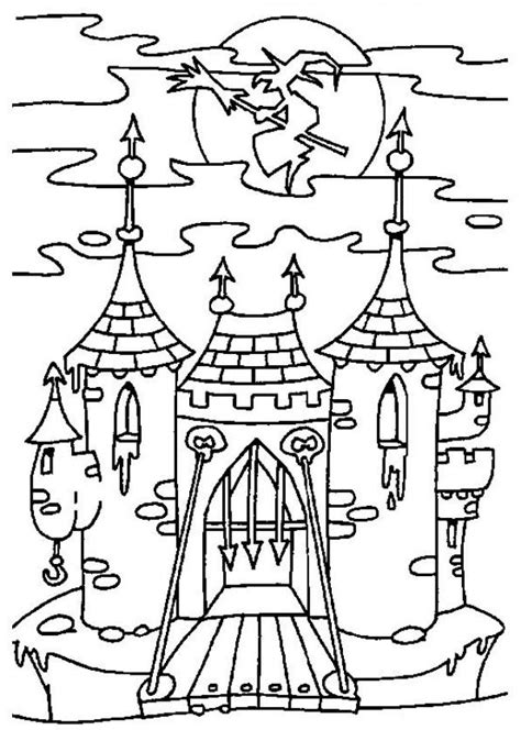 halloween coloring pages castle witches castle coloring pages hellokids com