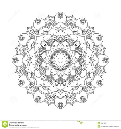flower background coloring page vector adult coloring book circular pattern mandala flower