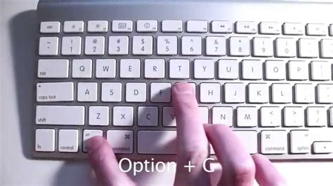 mac keyboard shortcut copyright symbol and also get