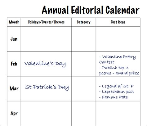 annual marketing calendar template calendars help launch successful social media caign