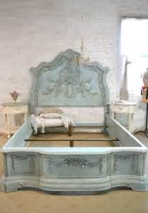 french bed painted cottage shabby chic queen king bed