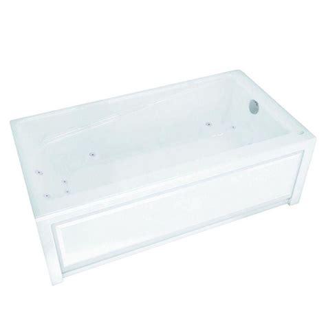 maax bathtubs home depot maax new town 6030 ifs white acrylic whirlpool tub with