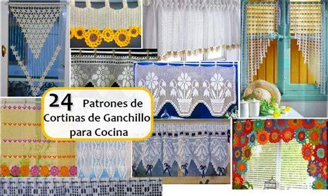 patrones de cortinas de ganchillo  cocina manualidades  diymanualidades  diy