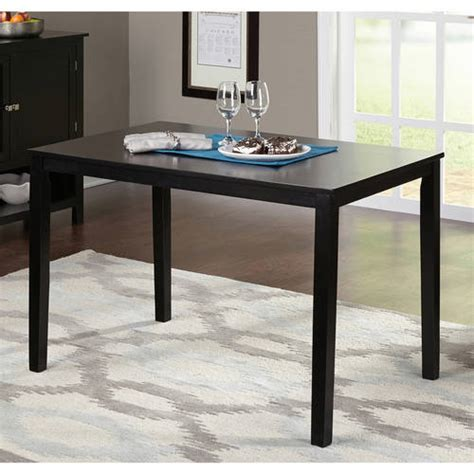 contemporary dining table black walmart