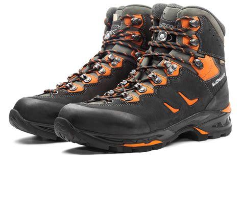lowa camino lowa camino gtx hommes trekking boot noir orange