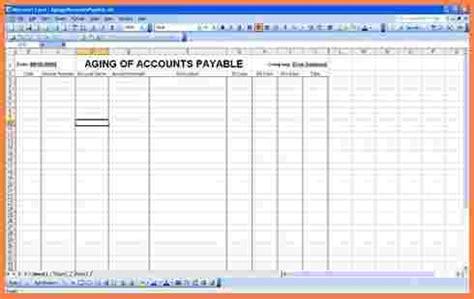 Accounts Payable Spreadsheet by 10 Accounts Payable Spreadsheet Template Excel