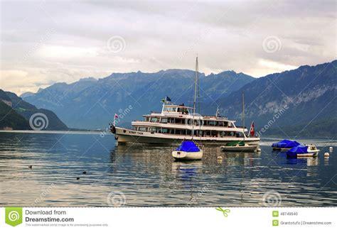 lake geneva boat dealers steam boat at geneva lake switzerland editorial image