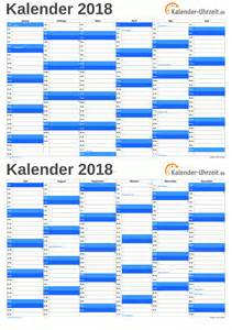 Kalender 2018 A5 Ausdrucken Kalender 2018 Zum Ausdrucken Kostenlos