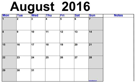 printable calendar 2016 with boxes august 2016 calendar printable free 2016 blank
