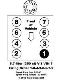 5 7 v 8 vin 7 firing order ricks free auto repair advice