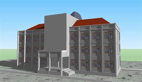 gambar rencana gedung kantor pusat upp pgsd watone oleh bone desain tak belakang