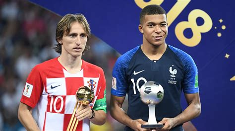 kylian mbappe golden ball luka modric scoops golden ball to join elite company