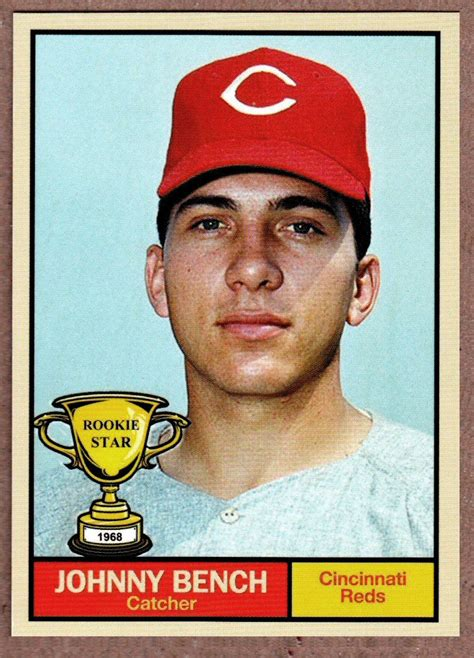 johnny bench cards johnny bench 1968 cincinnati reds rookie stars series