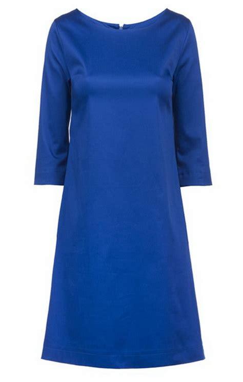 blauwe jurk katoen blauwe jurk