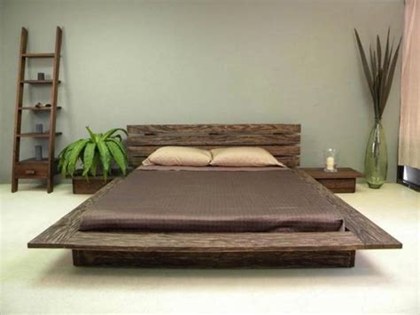 Zen Platform Bed Japanese Inspired Delta Low Profile Platform Bed With Wooden Till Presenting Zen Nuance