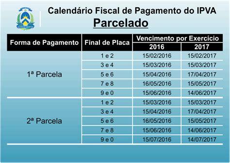Calendario Ipva 2016 Ipva 2018 To Valor Pagamento E Tabela Emitir A Guia
