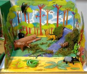Anglo Saxon Crafts For Kids - how to make trees for rain forest diorama autos post